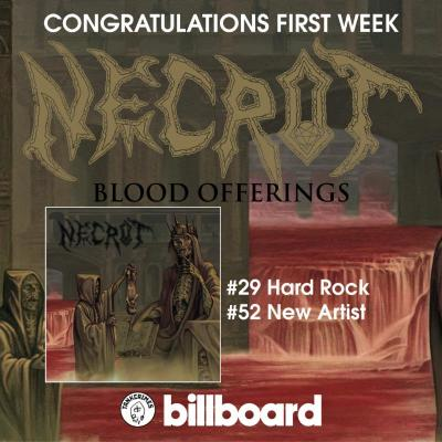 NECROT: Blood Offerings Enters Billboard Charts; US Tour With Undergang To Commence Next Week